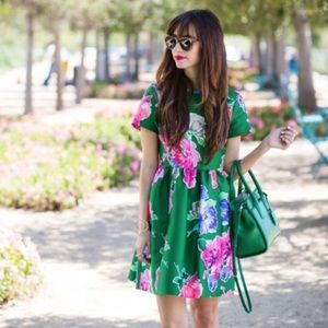 Kate Spade Green and Pink Floral Dress
